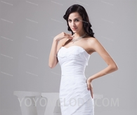 White Chiffon Short/Mini Sheath Bridesmaid Dress