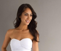 Plain White Chiffon Strapless Shirred Bodice A-line Short Cocktail Dress