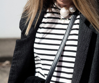 Chunky pearls and stripes