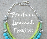 DIY Blueberry Lemonade Necklace
