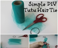 Simple DIY Tutu Hair Tie