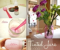 DIY Tinted Mason Jars