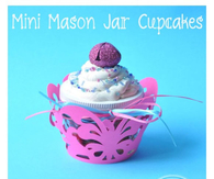 DIY Cupcake Mason Jar Candy Holders