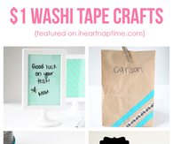 Back to School Washi Crafts