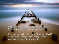 The reason the world is in chaos