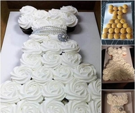 DIY Wedding Dress Cupcakes