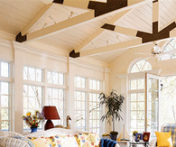 Beautiful Sunroom with White Wicker