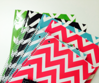 Chevron notebooks