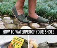 Waterproof your shoes