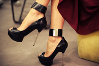 Open Toe Stilettos with Ankle Wrap