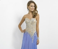 Lavender Nude Jeweled Top Long Prom Dresses 2014
