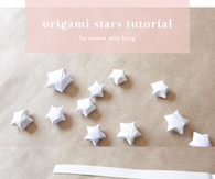 DIY Origami Stars Tutorial