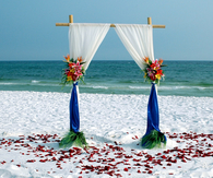 Simple Bamboo Beach Wedding