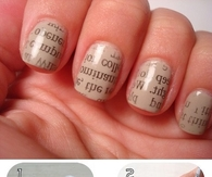DIY Newspaper Nail Art Tutorial