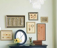 Organize, Store & Display your Jewelry in Picture Frames