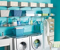Cheery & Organized Laundry Room