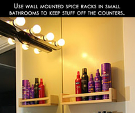 Spice Racks in the bathroom