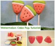 Watermelon Cake Pop Tutorial