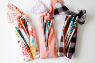 Knotted zipper pencil pouch tutorial