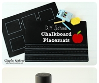 DIY School Chalkboard Placemats