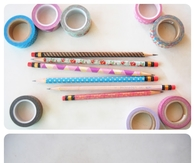 Pencils with Washi Tape