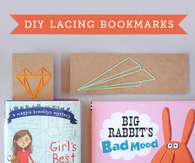 DIY Lacing Bookmarks