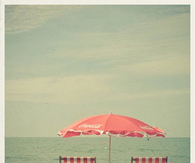Pink Beach Chairs & Umbrella