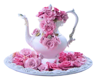 Beautiful Pink Rose Teapot