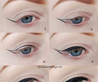 DIY Winged Eyeliner Pictorial