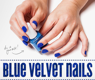 DIY Blue Velvet Nails