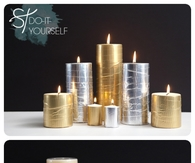 DIY Metallic Duck Tape Candles