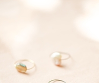 Wire Rings with beads