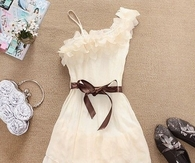 Pretty White Summer Dress Off Shoulder