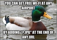 How to get free airport wifi