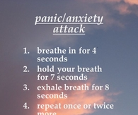 How to relieve a panic attack