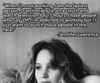 Lazy Jennifer Lawrence