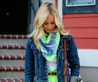 Blue jean and lime green