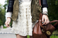 Cream colored skirt