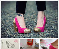 DIY Glitter Pumps