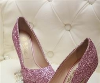 Pretty Pink Glitter Pumps