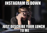Instagram is down momentarily