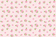 Roses and dot pattern