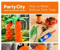 DIY Balloon Palm Trees