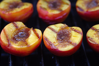Grilled Cinnamon Peaches