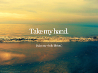 Take My Hand Take My Whole Life Too
