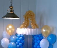 Baby shower decor pictures photos images and pics for for Baby bottle balloon decoration