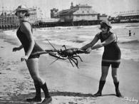 Flapper Girls on the Beach