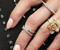 Pretty Jeweled Hands with Pale Pink Nails