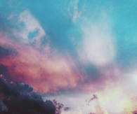 Cotton candy colored sky