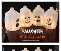 Halloween Milk Jug Craft
